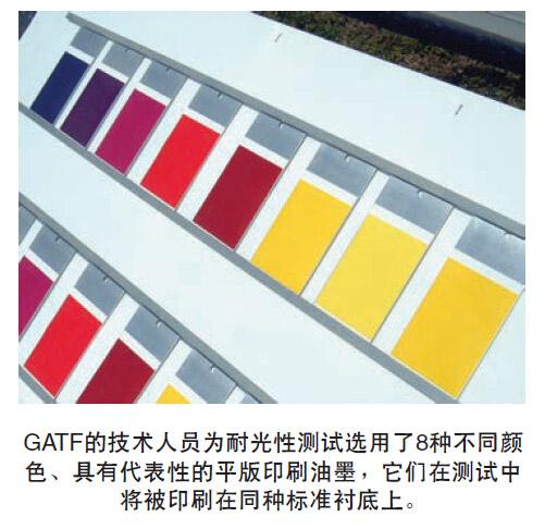 8种颜色的平版印刷油墨